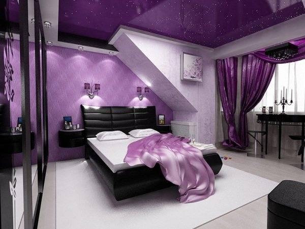 Фиолетовый цвет в интерьере — тайны фиолетового мира