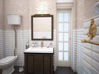 Обои для ванной комнаты; разновидности, свойства и способы оклейки