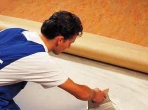 Как приклеить линолеум к бетонному полу - пошаговая инструкция