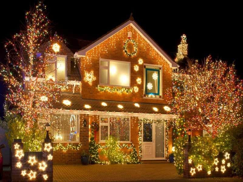Архитектурная подсветка фасада частного дома