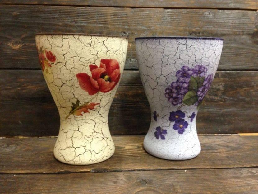 Современный декупаж стеклянной вазы - пошаговое описание как украсить вазу своими руками