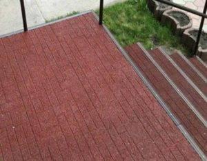 Резиновое покрытие для крыльца на улице 2019 (все варианты)