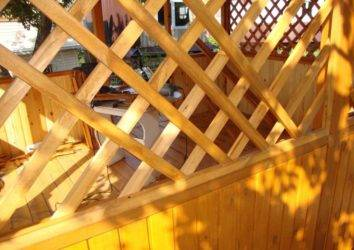 Деревянная решетка своими руками: мастер-класс с пошаговыми фотографиями