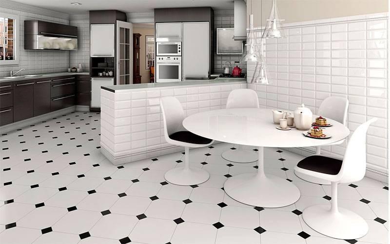 Напольная плитка для кухни: характеристика, предъявляемые требования, типы и виды, дизайн и расцветка, размеры, видео