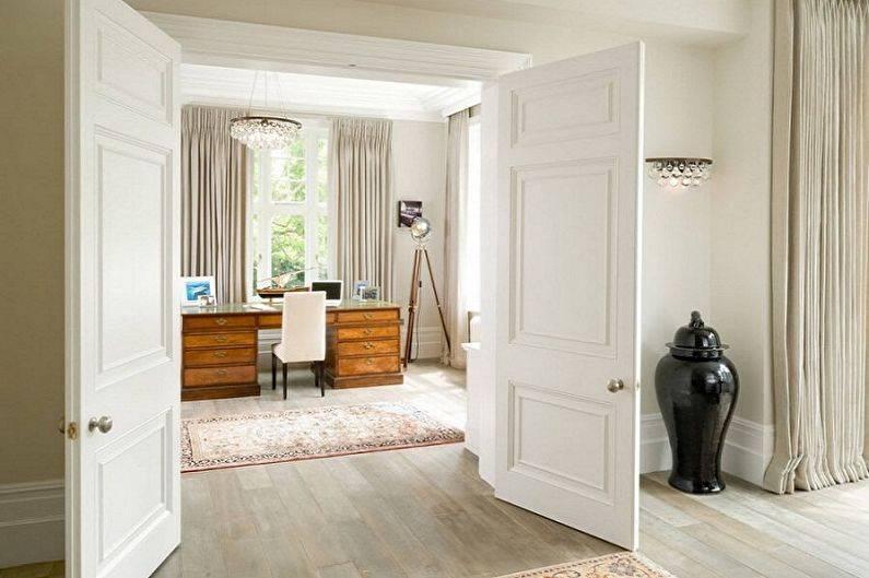 Белые двери в интерьере реальной квартиры (100 фото)