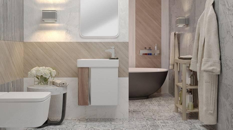 Пол в ванной — критерии выбора покрытия, варианты оформления и советы по отделке (120 фото)