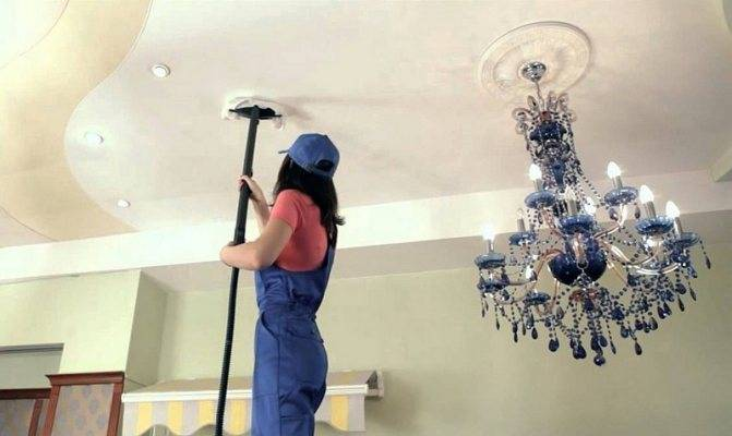 Как помыть натяжные потолки без разводов и в домашних условиях