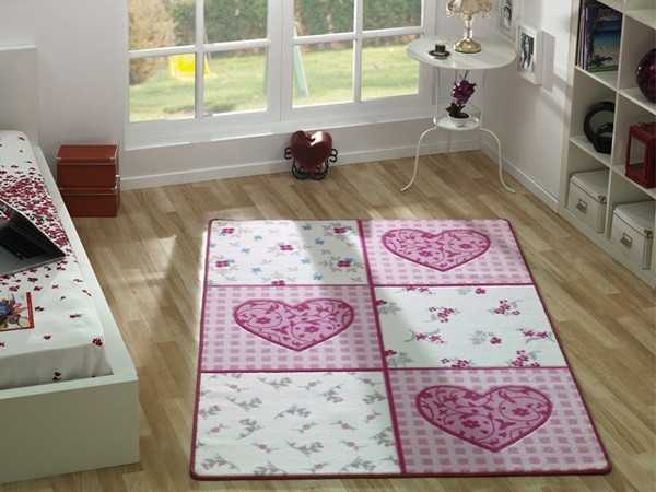 Детские ковры в комнату для девочек (41 фото): коврики-классики, круглые покрытия для подростков