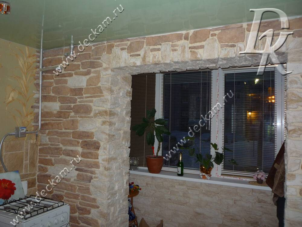 Отделка балкона декоративным камнем. советы мастера