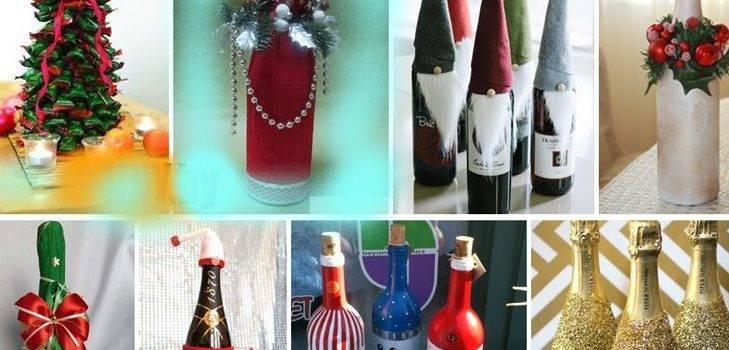 Декор бутылок лентами - 75 оригинальных идей декорирования