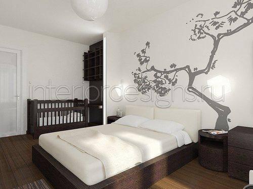 Дизайн спальни с детской кроваткой: размеры комнаты, ниша под уголок малыша, решения для однокомнатной квартиры