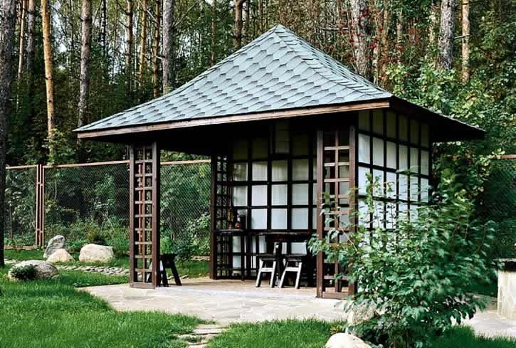 Беседка в японском стиле: как сделать оригинальный павильон для дачи своими руками, чертежи конструкции с размерами