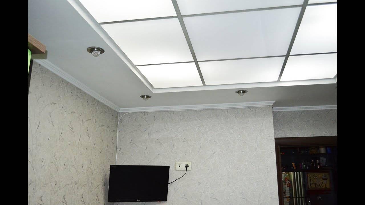 Стеклянные потолки с подсветкой: гармоничный интерьер