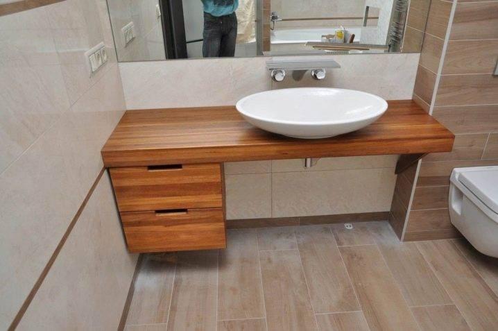 Раковина для ванны накладная на столешницу: виды, установка