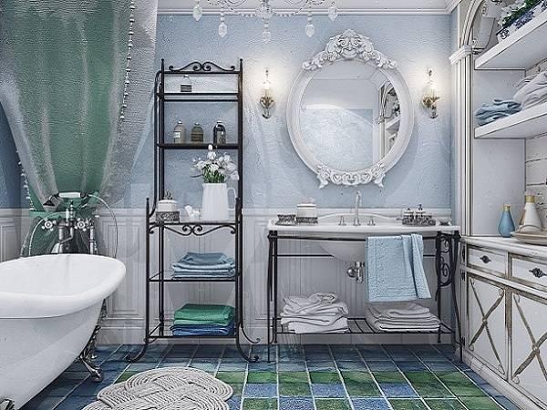 Ванная комната в стиле прованс: как выглядит стиль прованс, фото галерея удачных примеров, детали стиля