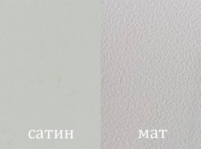 Натяжные потолки и их фото: особенности глянцевых, сатиновых и матовых потолков белого и других оттенков