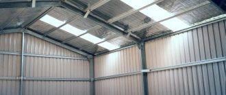 Все о сборно-разборных гаражах (металлический, из панелей и другие): размеры, чертежи и фото