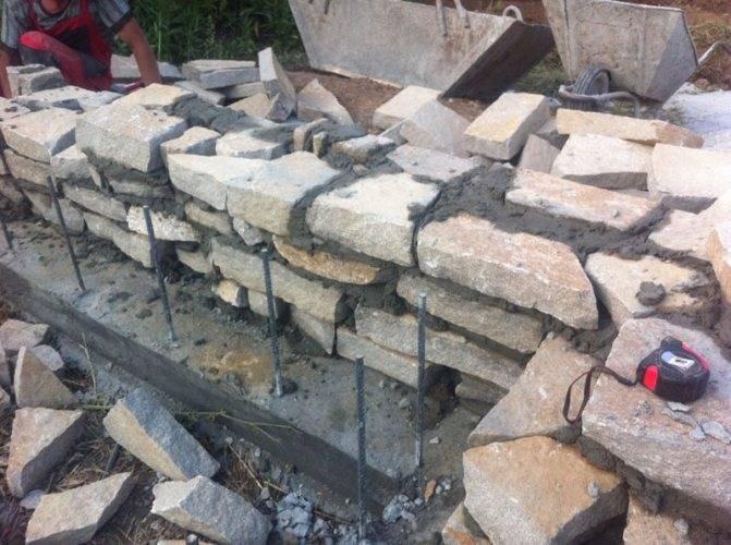 Кладка бутового камня - технология
