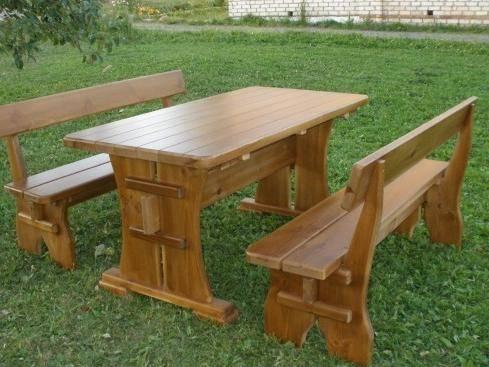 Стол и скамейки для беседки своими руками, видео, фото, чертежи изготовления лавки и столиков