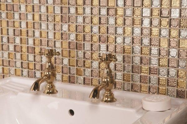 Мозаика в ванной: виды, материалы, цвета, формы, дизайн, выбор места отделки