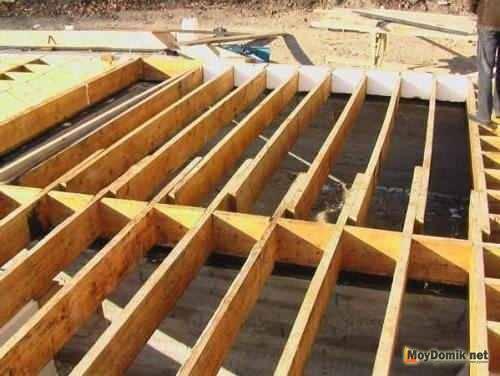 Устройство и монтаж перекрытий по деревянным балкам