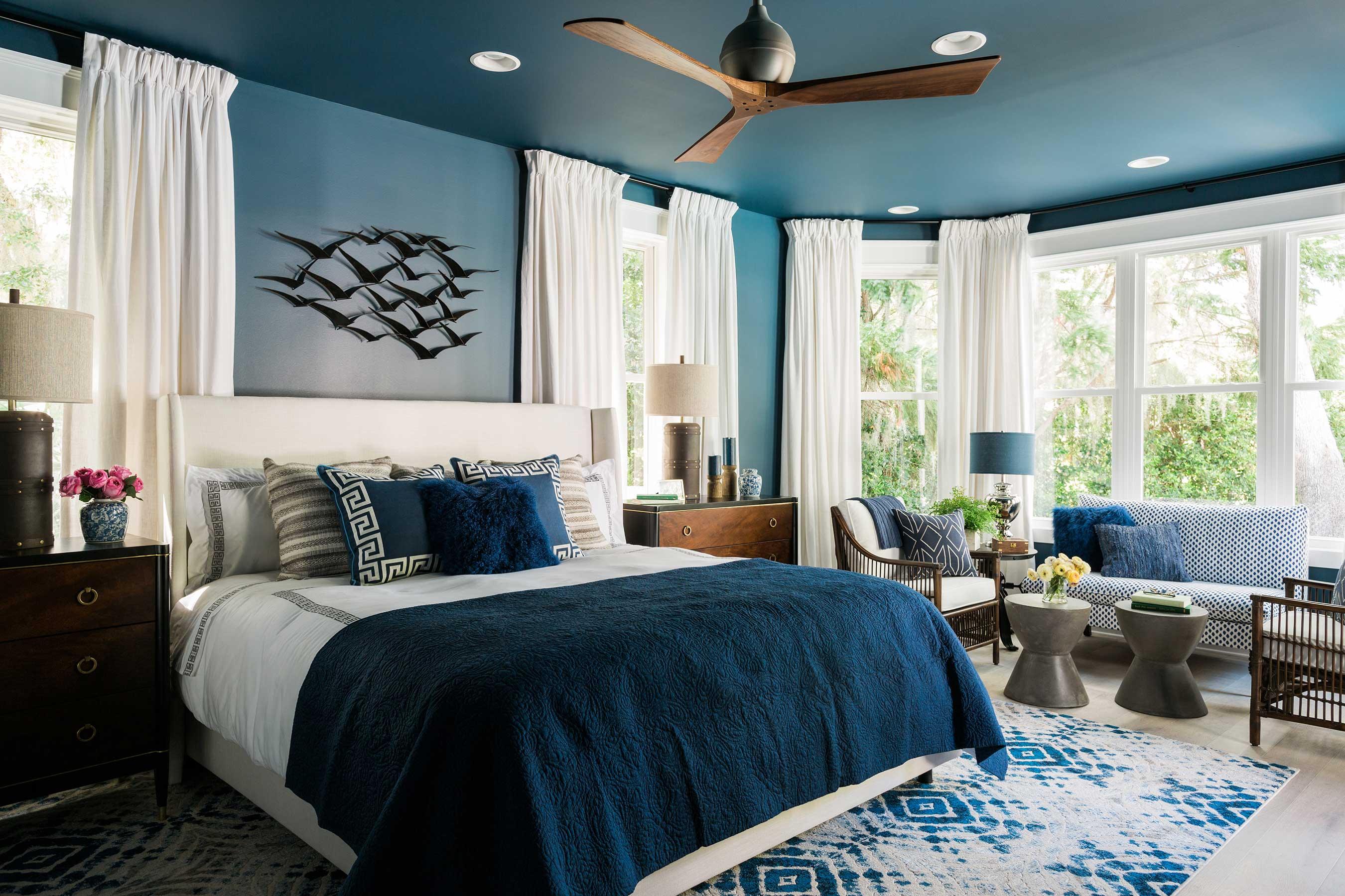 Синяя мебель: оптимальные сочетания и влияние цвета (110 фото)