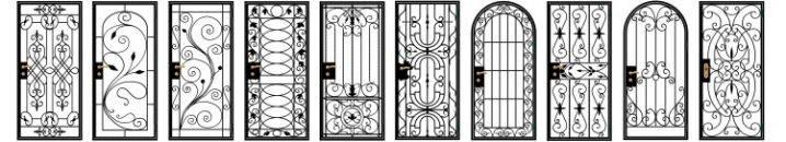 Решетчатые двери: раздвижные металлические решетки вместо входных дверей, железная конструкция