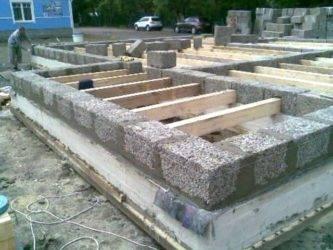 Фундамент для дома из арболита своими руками