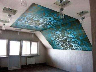 Натяжные потолки с фотопечатью - самые интересные примеры из интерьеров