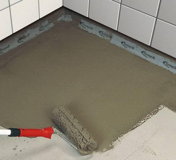 Обмазочная гидроизоляция для ванной комнаты под плитку – о плюсах материала