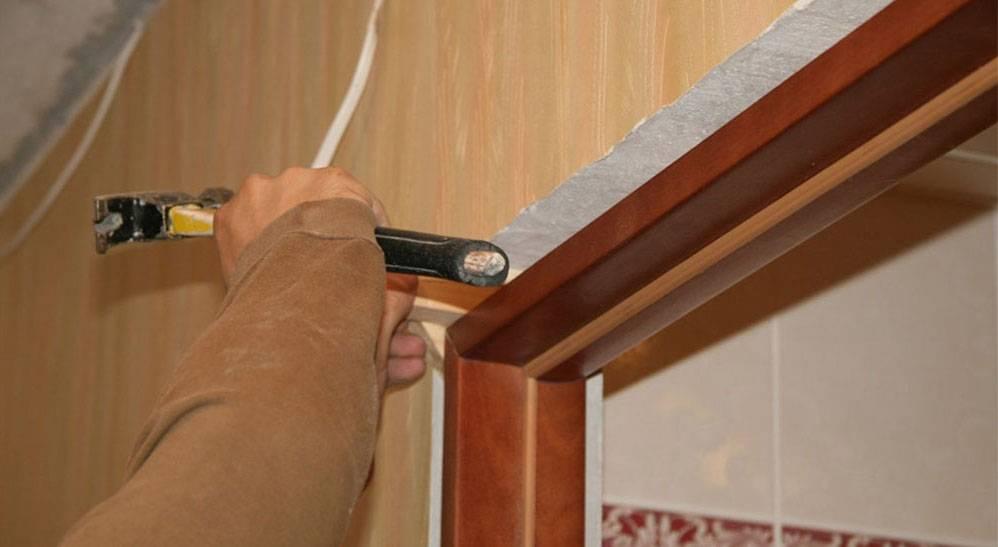 Порядок установки коробки межкомнатной двери: подробно