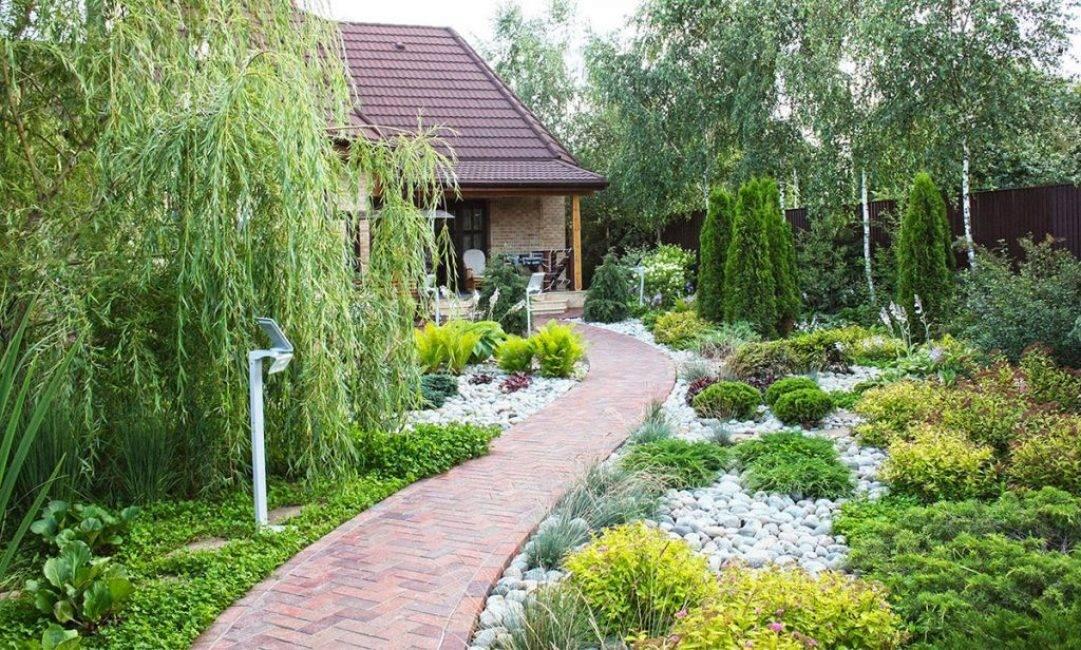 Ландшафтный дизайн приусадебного участка дома своими руками -