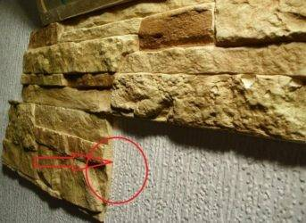 Правильная поклейка искусственного камня на гипсокартон