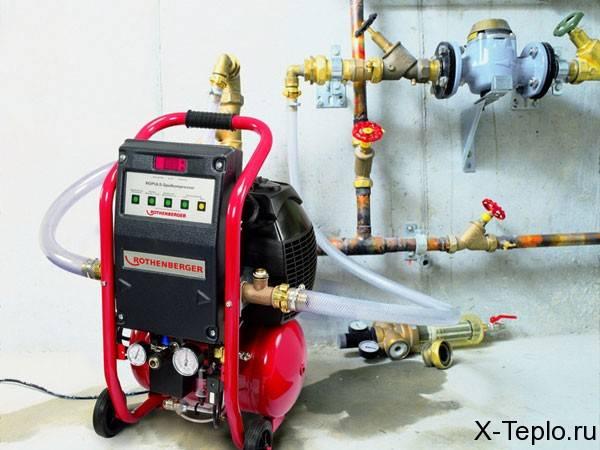 Промывка и опрессовка системы отопления: подробная инструкция