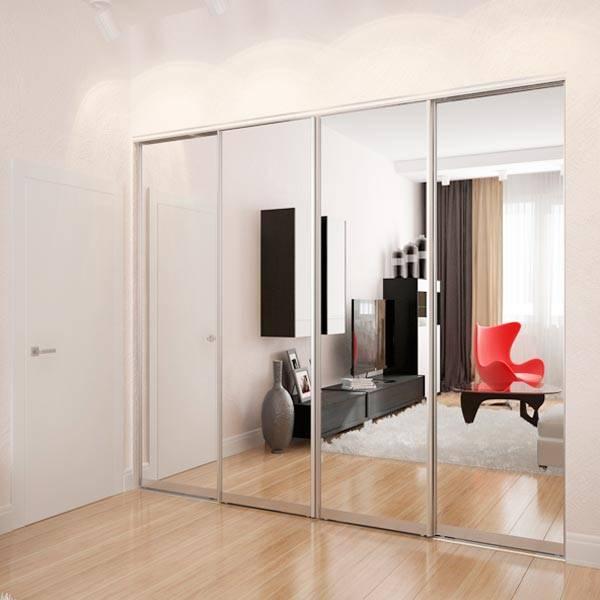 Межкомнатные двери с зеркалом: разновидности конструкций