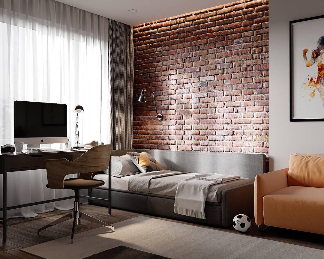 Спальня в стиле лофт: 100 фото лучших идей в интерьере