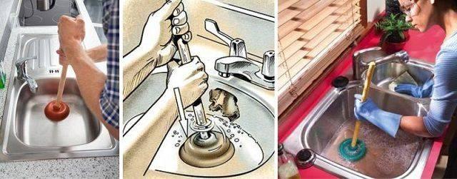 Засорилась раковина на кухне - что необходимо делать: стандартные и народные методы удаления засоров