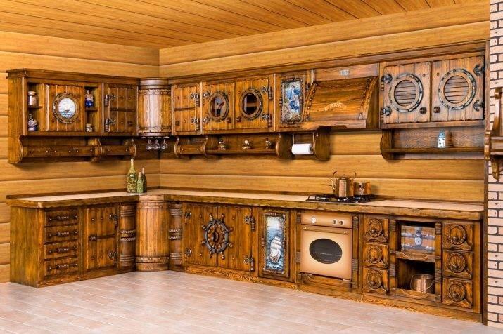 Кухня под старину из массива дерева: дизайн, фасады гарнитура и отделка | дизайн и фото
