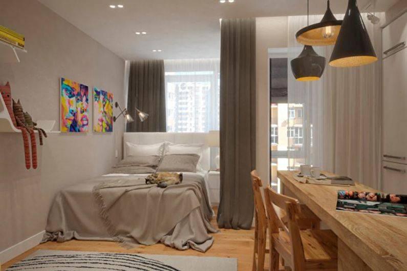 Однокомнатная квартира 33 кв.м: идеи дизайна, 75 фото интерьеров
