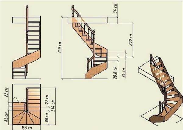 Лестница деревянная для бани: сквозь огонь, воду и медные трубы