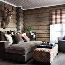 Интерьер деревянного дома - лучшие стили и оформление (120 фото)