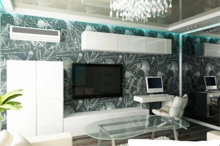 Компьютерный стол в интерьере-рабочее место в гостиной (43 фото)