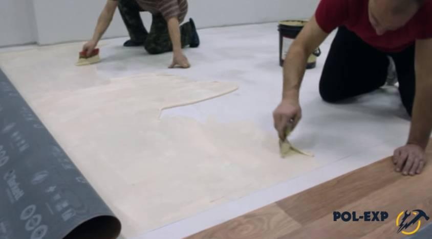 Помощь при выборе клея для линолеумного покрытия