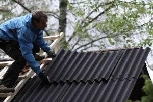 Укладка шифера на крышу 8-волнового своими руками: технология, схема, способы
