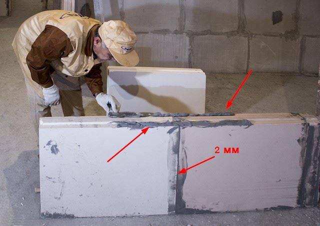 Выбор, расход и применение клеевых растворов для кладки пеноблоков