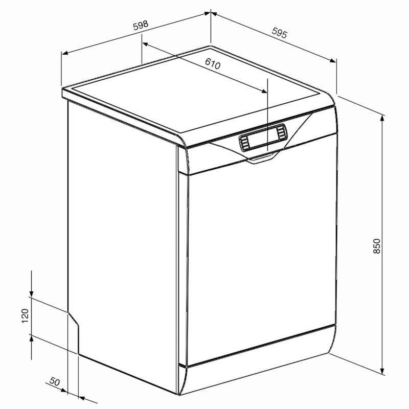 Сколько весит посудомоечная машина 60, 45 см и др?