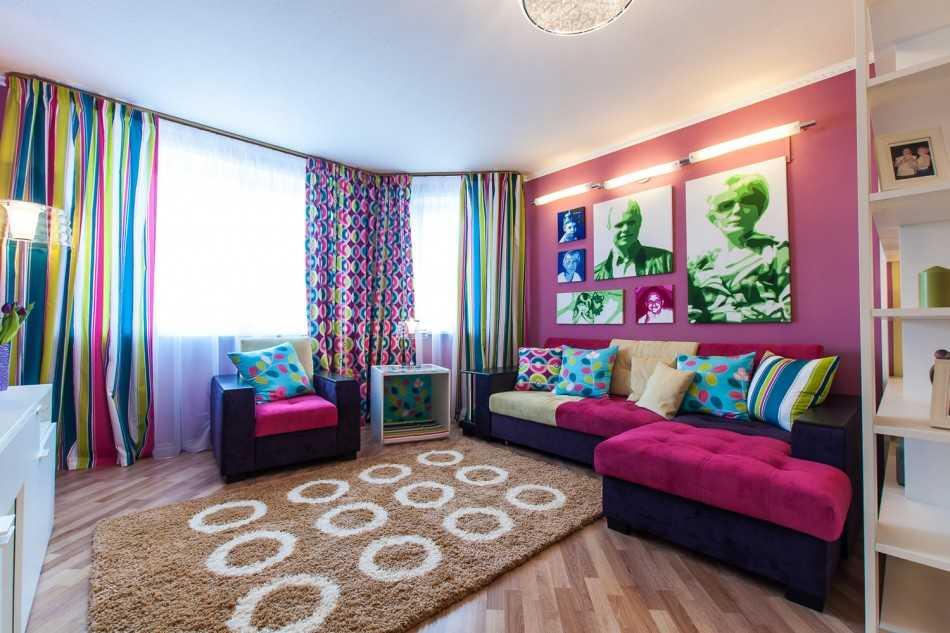 Каким может быть дизайн гостиной-спальни 20 кв. м