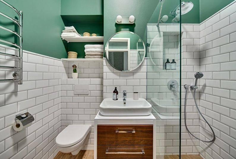 Дизайн ванной комнаты 3 кв.м.: особенности, советы - 75 фото