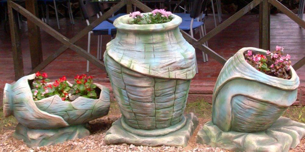 Изготовление уличных вазонов для цветов своими руками