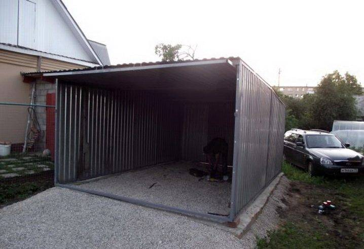 Металлический гараж: виды конструкций и особенности монтажа